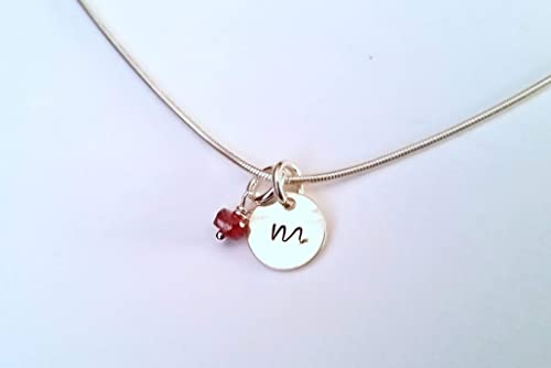 October birthstone necklace w initial Gold lariat necklace Dainty pink tourmaline necklace Silver Y necklace 8th5th anniversary gift women