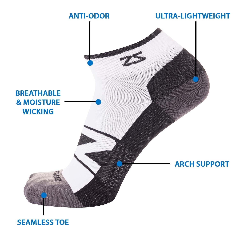 f8fdde6c19 Amazon.com : Zensah Peek Ultra-Thin Lightweight Running Socks for Men and  Women - Anti-Blister, Moisture Wicking Sport Socks, Seamless Toe : Clothing