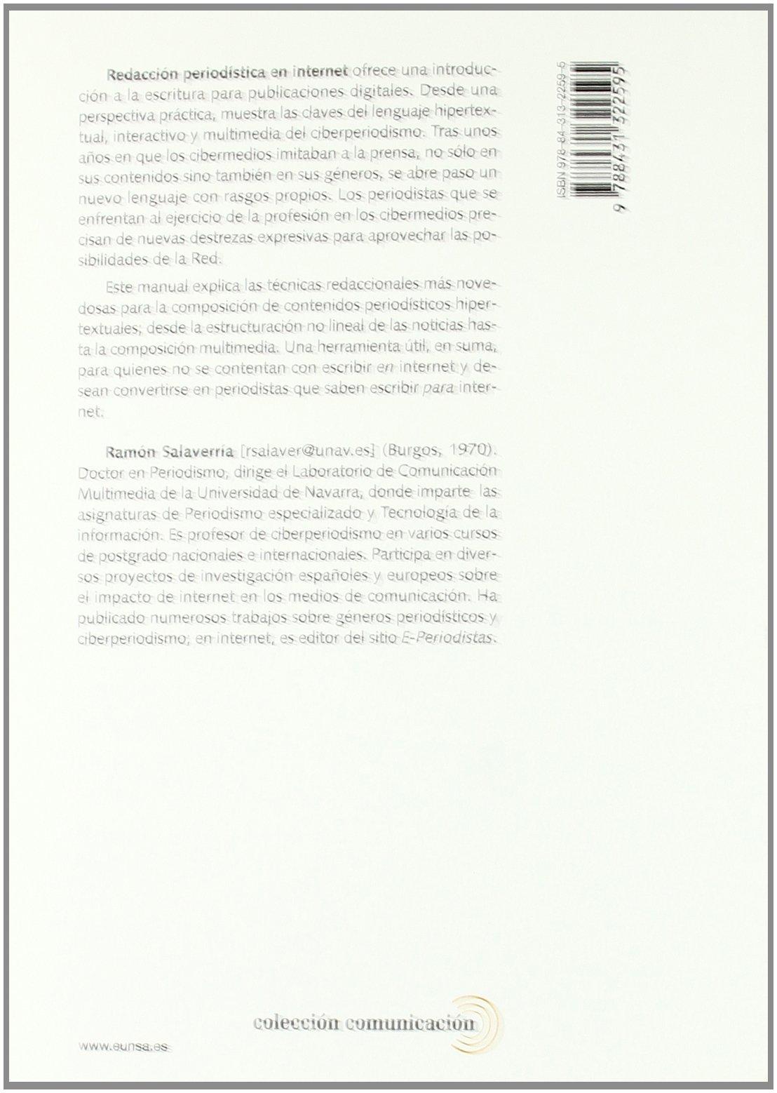 Redaccion Periodistica en Internet: Ramón Salaverría Aliaga ...