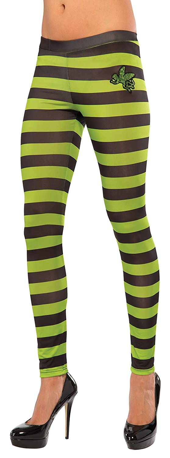 Rubie's Costume Co Women's Wizard of oz Wicked Witch of The West Leggings Black/Green One Size Rubies Costumes - Apparel 35766
