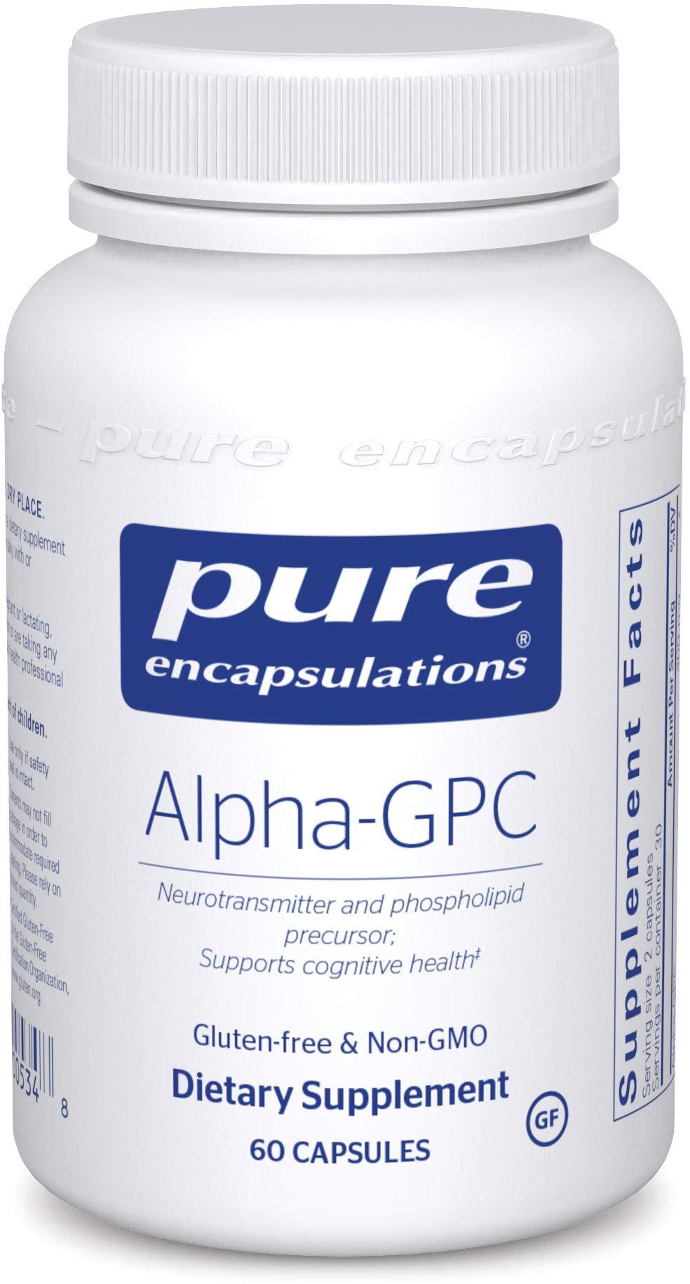 Pure Encapsulations - Alpha-GPC - Neurotransmitter and Phospholipid Precursor to Support Cognitive Health* - 60 Capsules