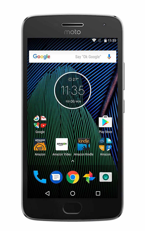 Moto G PLUS (5th Generation) - 64 GB - Unlocked - Lunar Gray - Prime Exclusive