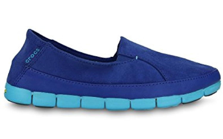 crocs - Mocasines de Terciopelo para Mujer Azul Cerulean Blue and Electric Blue 34/35 EU: Amazon.es: Zapatos y complementos