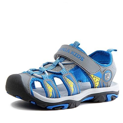 outlet store abf3f 5c6d9 SAGUARO Geschlossene Sandalen Jungen Trekking Wandern Sommer Outdoor Schuhe  Atmungsaktiv mit Klettverschluss