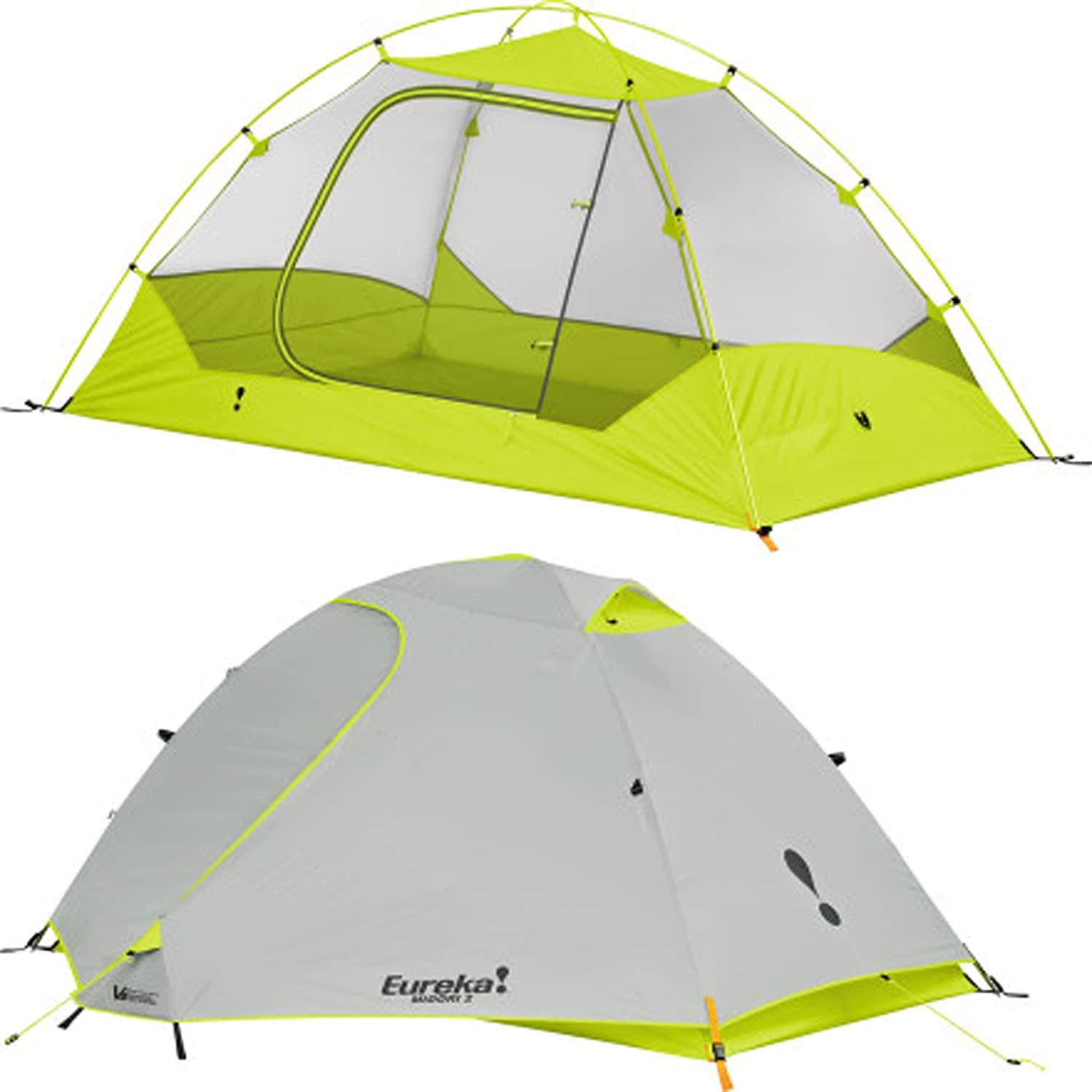Amazon.com  Eureka Midori 2 Person Waterproof Backpacking Tent Lime/Grey  Backpacking Tents  Sports u0026 Outdoors  sc 1 st  Amazon.com & Amazon.com : Eureka Midori 2 Person Waterproof Backpacking Tent ...