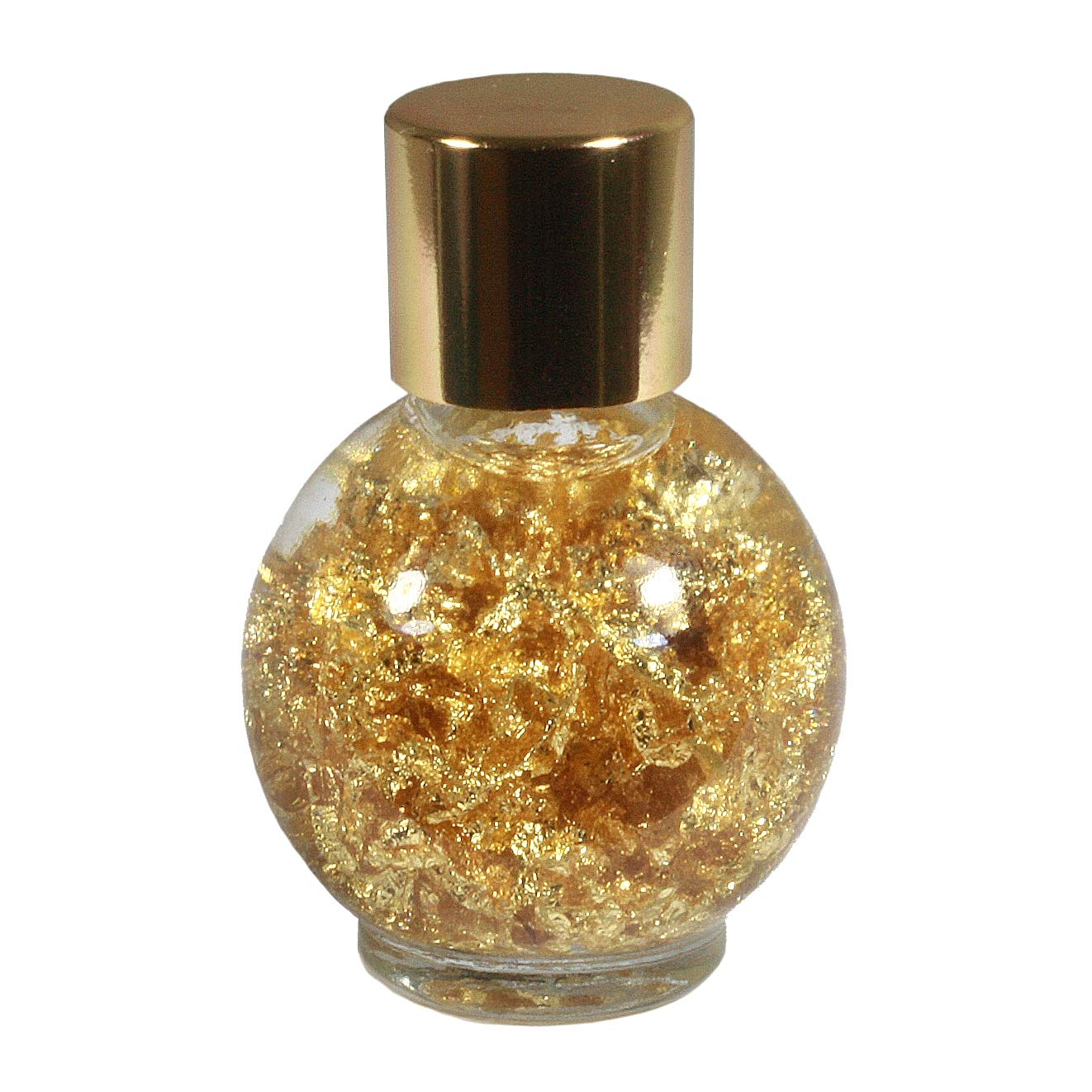 Crystalage Pure Gold Flakes In Clear Oil Crystalage Beauty