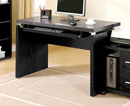amazoncom coaster peel black computer desk with keyboard tray kitchen dining black computer desks