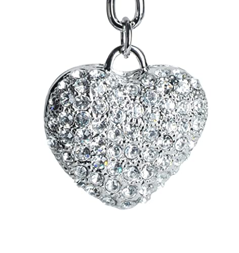 Amazon.com: Lilly Rocket Plata claro corazón bling ...