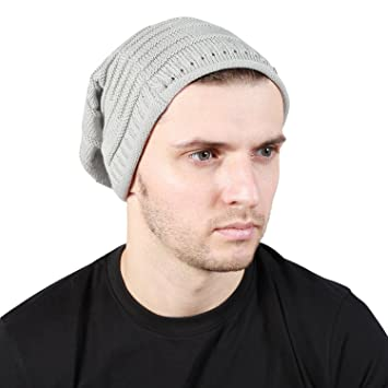 5a7d0a40b48 Noise Grey Knitted Slouchy Beanie winter woolen cap  Amazon.in  Sports