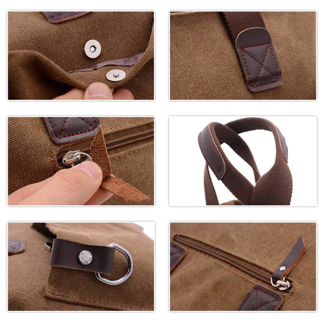 ToLFE Women Top Handle Satchel Handbags Tote Purse Shoulder Bag (Khaki-(Large)) by ToLFE (Image #6)