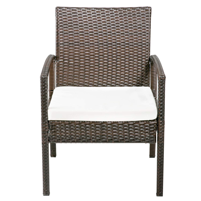 Amazon.com: Merax Juego de muebles de ratán para exteriores ...