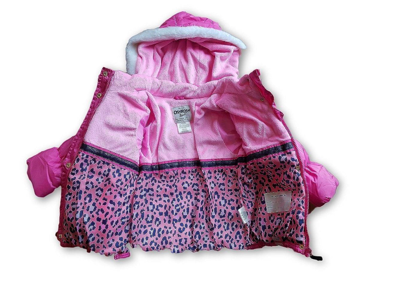 Oshkosh Bgosh Girls Faux Fur Coat Pink, 4