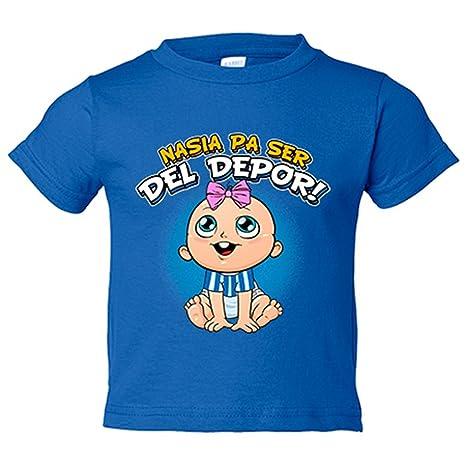 Camiseta niño nacida para ser del Depor Coruña fútbol - Azul Royal, 3-4