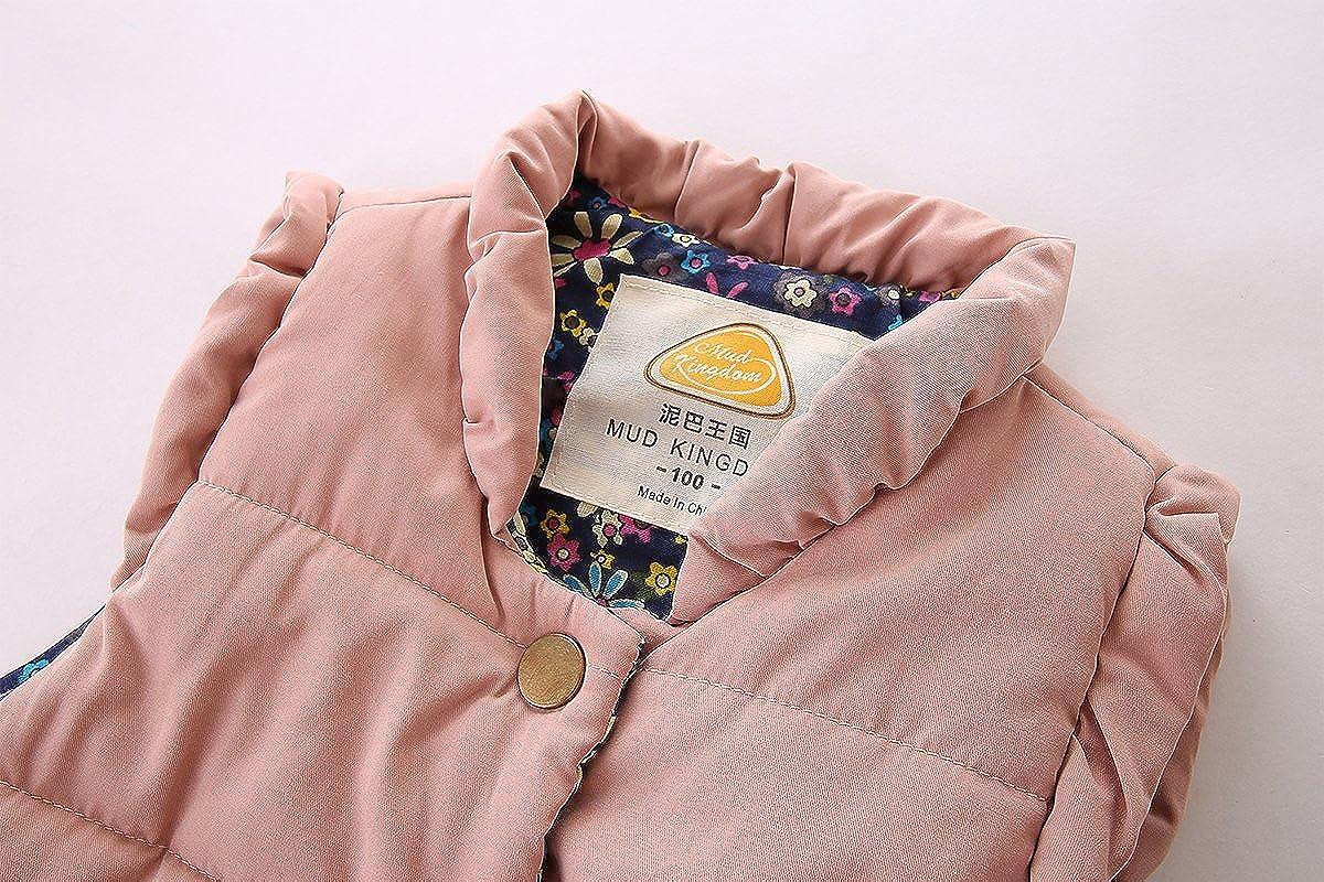 Mud Kingdom Little Girls Vests Outerwear Lightweight Cute Floral SS0250