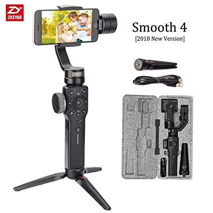 0755526157fc81 Zhiyun Smooth 4 3-Axis Handheld Gimbal Stabilizer Upgraded Phone Camera  Video Mobile Filmmakers w