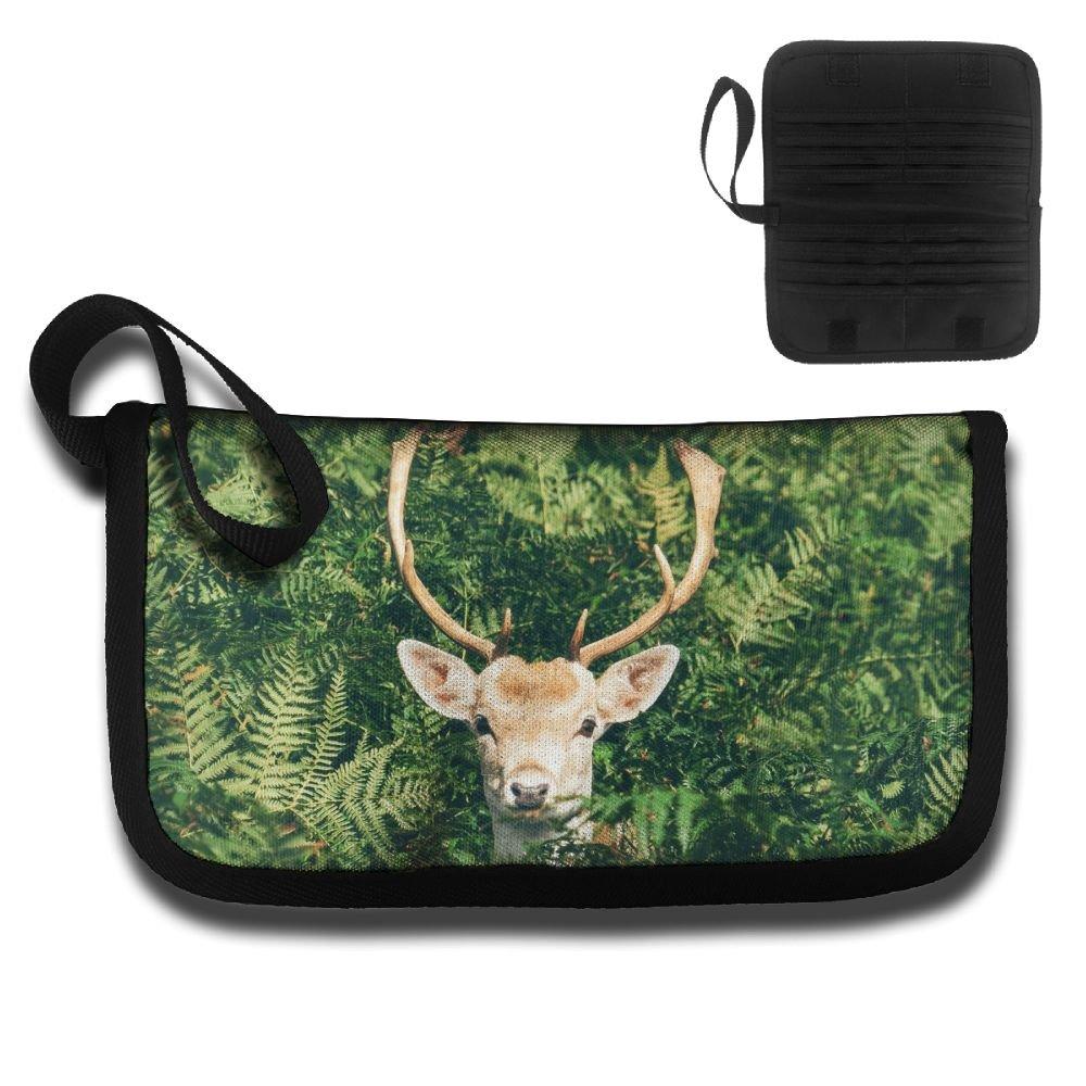 A Deer From The Green Leaves Travel Passport /& Document Organizer Zipper Case
