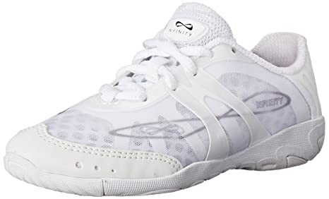 Nfinity Vengeance Cheer Shoe | Competition & Varsity Cheer Gear | Adult & Youth Cheerleading Uniform Shoes | Cheerleader Supplies Signature Bubble Laces | White