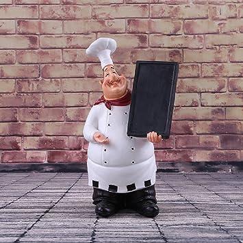 K&c koch serviettenfigur chefkellner servieren statue küchendekor ...