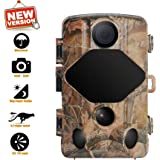 Verkarma 2019 Trail Camera 14MP 1080P Game&Hunting Camera with 120°Detecting Range IP66 Waterproof Cam Wildlife Monitoring Activated Night Vision IR LEDs for Outdoor Farm Deer Scouting