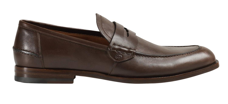 Gucci 368456 - Mocasines de Piel para Hombre, Color marrón, Marrón (Marrón), 44 EU: Amazon.es: Zapatos y complementos