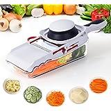Lifewit Mandoline Slicer 5 Blades Interchangeable Stainless Steel Vegetable/Fruit Slicers/Shredders/Masher/Peeler with Safety Food Holder
