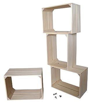 Liza Line Modul Regal System Mit 4 Holz Würfel Regalen