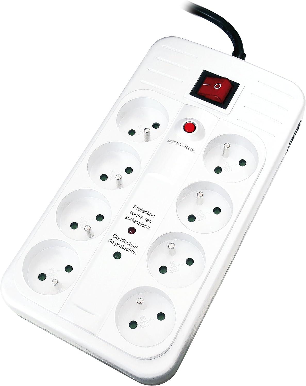 Cuadro con varias tomas para enchufes e interruptor (TV, satélite, teléfono)