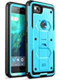 i-Blason Case for Google Pixel 2 2017 Release, [Armorbox] Built-in [Screen Protector] [Full Body] [Heavy Duty Protection ] [Kickstand] Shock Reduction/Bumper Case(Blue)
