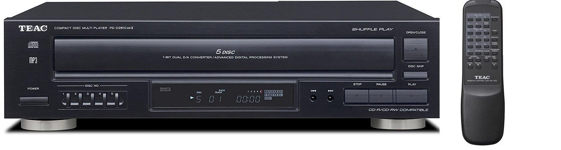 Teac PD-D2610MKII 5-Disc Carousel CD Player Changer Remote CD,CD-R/RW, MP3 Disks (Renewed) by Teac