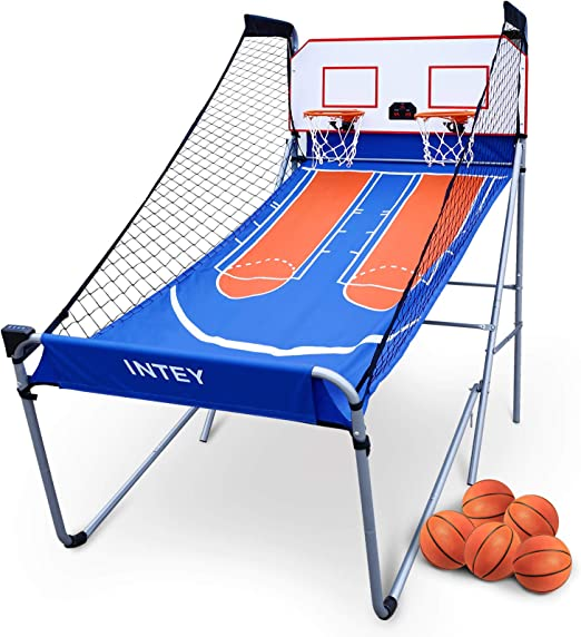 INTEY Dual Shot Electronic Basketball Arcade Game - Best For Easy Installation