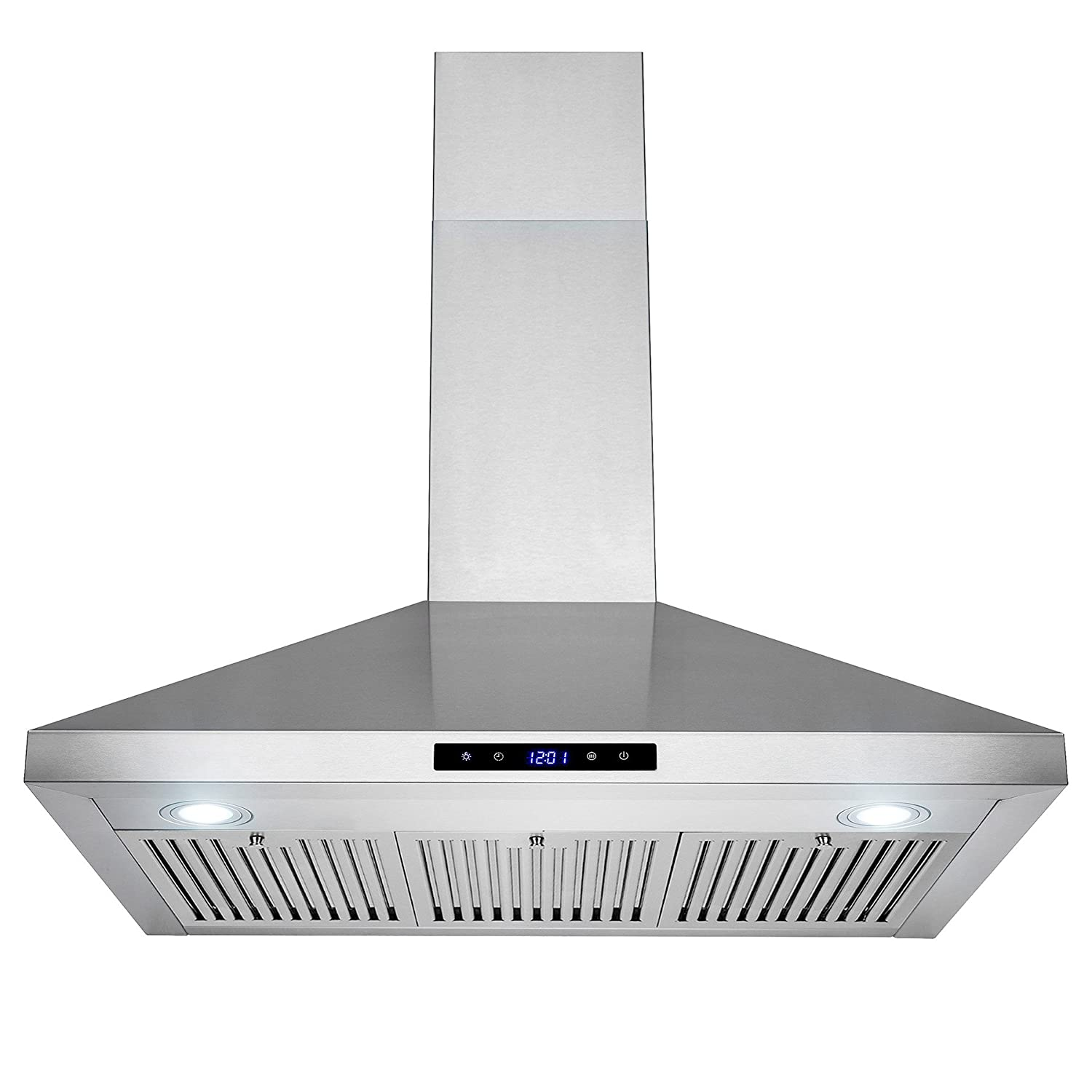 FIREBIRD New 36 European Style Wall Mount Stainless Steel Range Hood Vent W/Push Button Control FBTK-S307H-90 RH0356