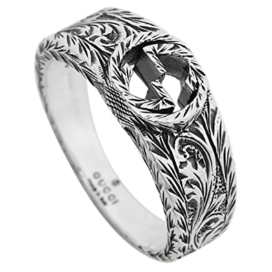 820de51c10 Amazon.co.jp: GUCCI リング グッチ 455249 J8400 0701 インターロッキングG 指輪 シルバー[並行輸入品]:  シューズ&バッグ