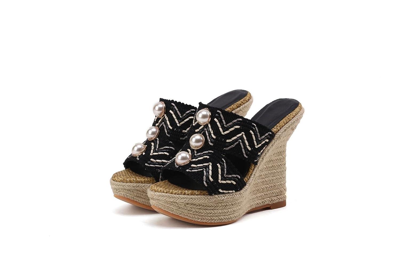 QIN&X Donna  Sandals Wedge Heel Peep Toe Flip Flop