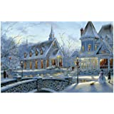 Meryi Romantic Town Jigsaw Puzzles for Adults 1000 Piece, Adult Children Intellective Educational Toy DIY Collectibles Modern