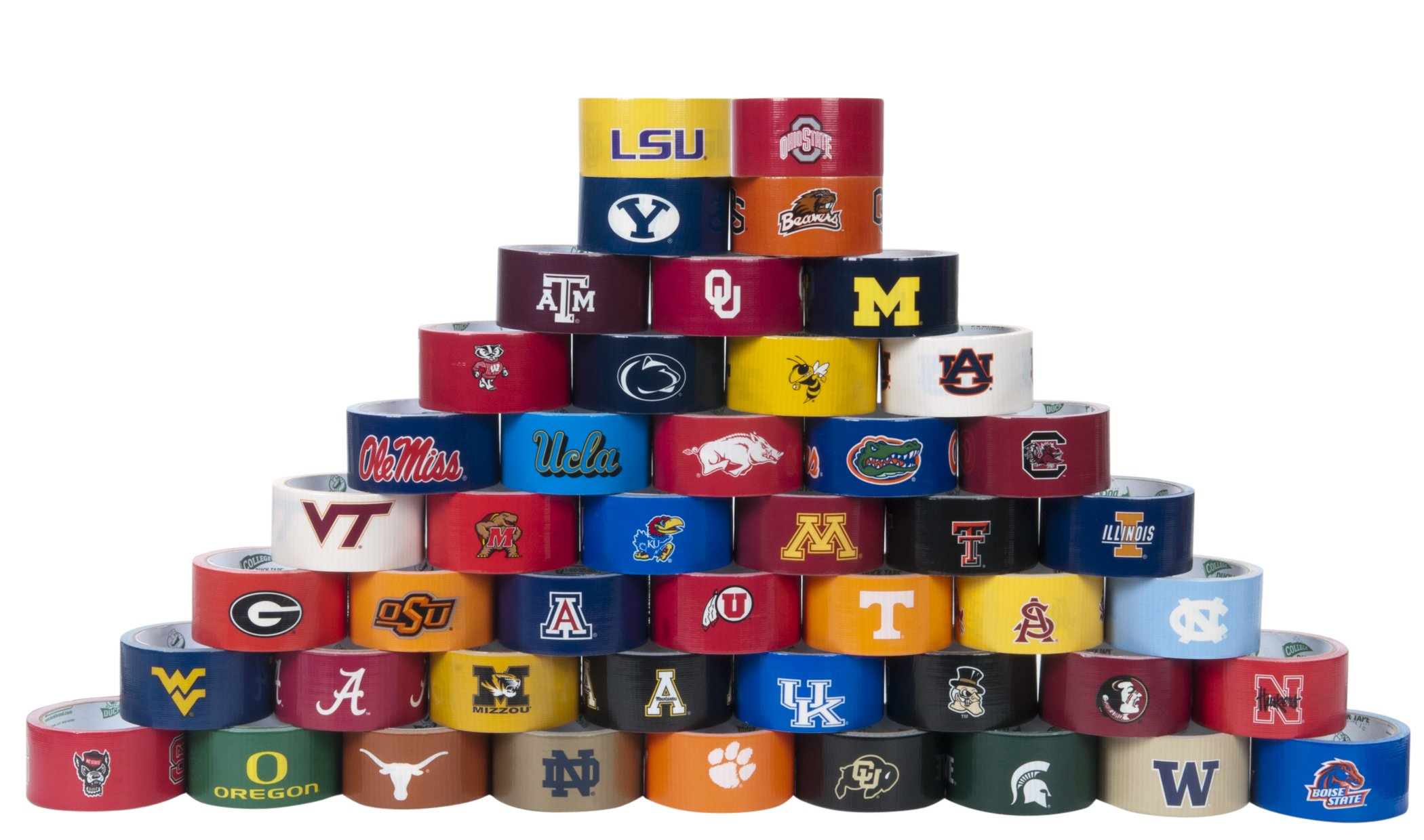 Duck Brand 240257 University of Alabama College Logo Duct Tape, 1.88-Inch by 10 Yards, Single Roll