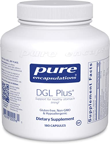 Pure Encapsulations – DGL Plus – Herbal Support for The Gastrointestinal Tract – 180 Capsules