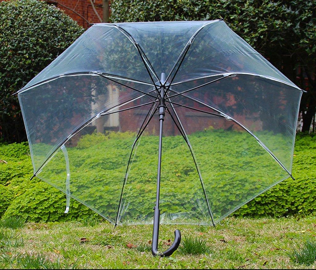 Mariposa del Amor de la Cereza Gruesas Paraguas Transparente japoneses Pequeño Largo Fresco Paraguas automático del Paraguas Creativas Hombres Coreanos y ...