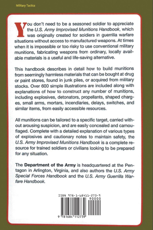 U.S. Army Improvised Munitions Handbook: Army: 9781684112739: Amazon.com:  Books