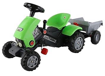 Polesie polesie52742 Turbo-2 Pedal Tractor y Remolque de Juguete: Amazon.es: Juguetes y juegos
