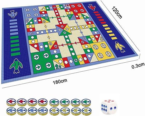 RXIN - Juego de Alfombrilla de Juego de ajedrez, diseño de avión, Resistente al Agua, para Juegos de Ludo y bebés, educativa: Amazon.es: Hogar