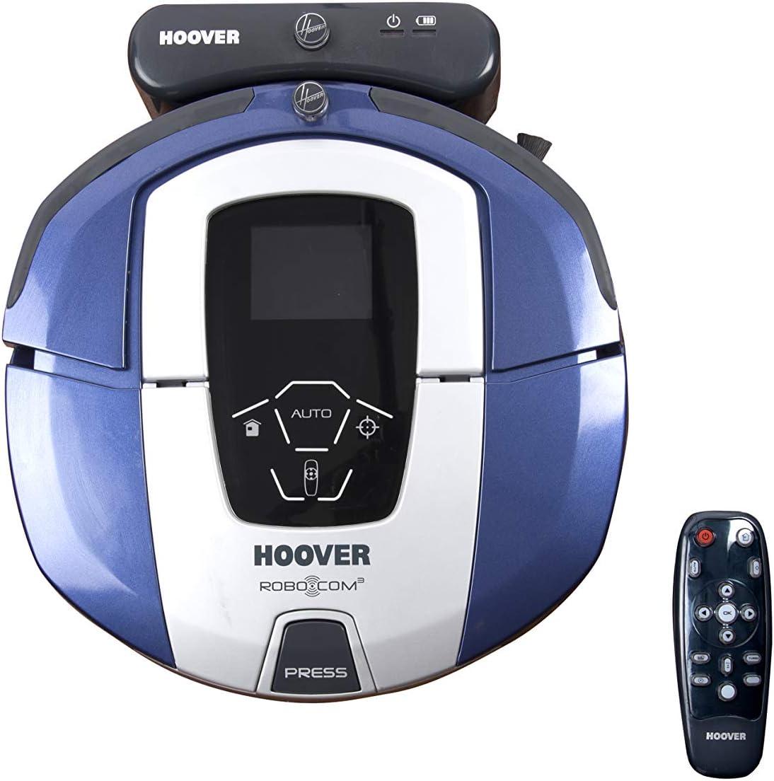 Hoover RBC050 - Robot aspirador con filtro HEPA, hasta 90 mins. de autonomía, programable semanal, incluye un muros virtual, color azul java: Hoover: Amazon.es: Hogar