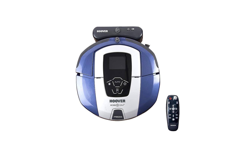 Hoover RBC050 - Robot aspirador con filtro HEPA, hasta 90 mins. de autonomía, programable semanal, incluye un muros virtual, color azul java