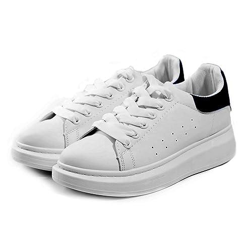a basso prezzo 2c667 6c20a Sneakers Uomo Bianche Platform Scarpe Sportive da Ginnastica ...