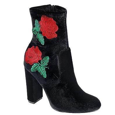 f058695de22 Womens Faux Suede Chunky Block Heel Drawstring Ankle Bootie