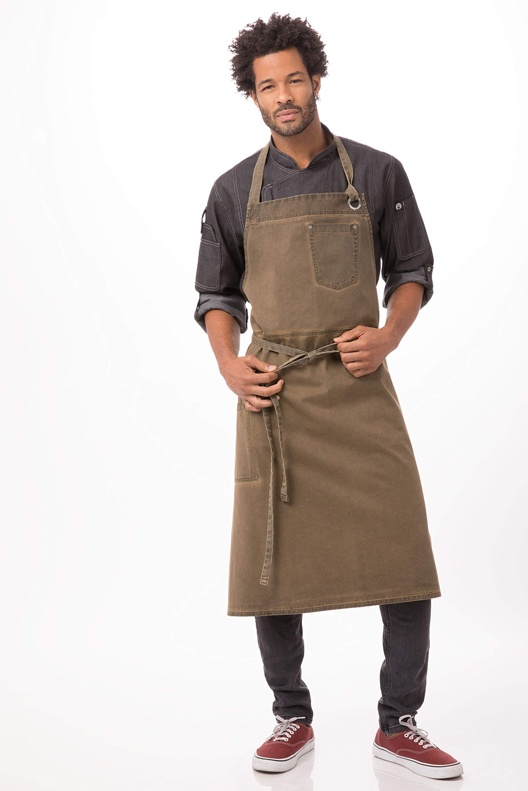 Chef Works Dorset Chefs Bib Apron, Golden Brown, One Size by Chef Works