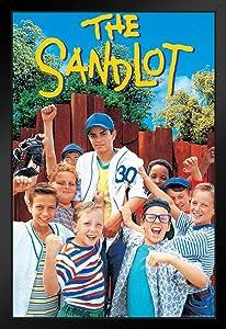 Pyramid America The Sandlot Movie Team One Sheet Baseball Bat Sports Film Classic Cool Wall Decor Art Print Black Wood Framed Poster 12x18