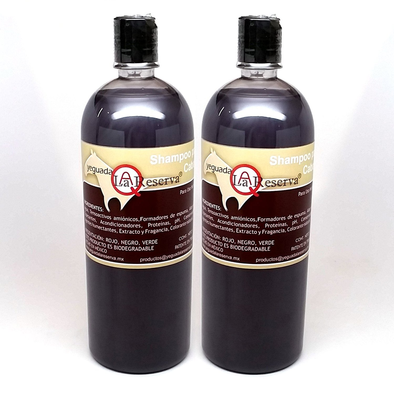 2-PACK YEGUADA LA RESERVA SHAMPOO NEGRO ( 1-LITER BOTTLE ) FOR HAIR LOSS AND HAIR REGROWTH by Yeguada La Resreva