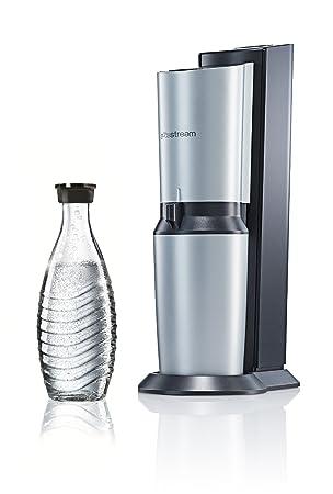 sodastream wassersprudler crystal umsteiger 1 x 0 6l glaskaraffe ohne co2 zylinder titan. Black Bedroom Furniture Sets. Home Design Ideas
