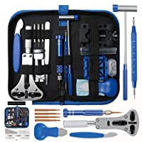 208pcs Watch Repair Tool Kit, Lifegoo Upgraded Version Watches Tools Kits Battery Replacement Watchband Link Remover Adjustment Watch Back Removal Opener Spring Bar Repair with Carrying Case & Manual