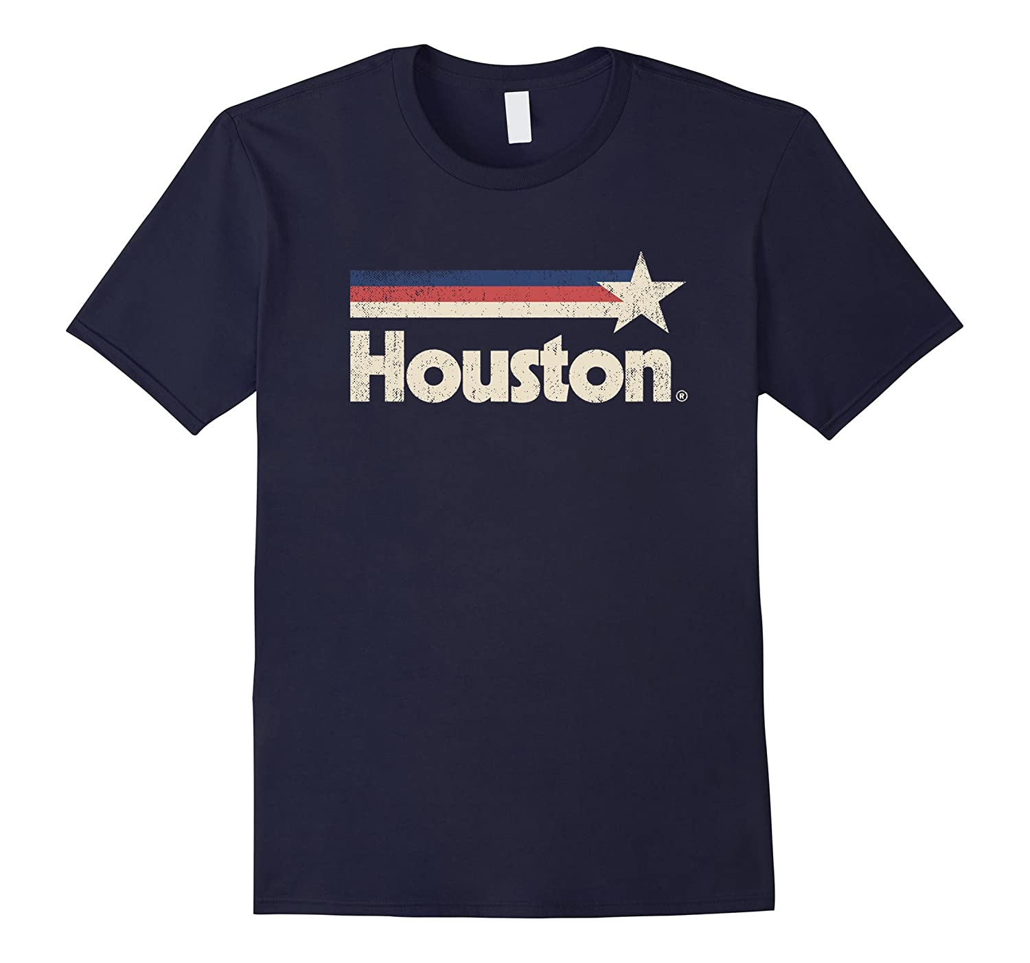 Vintage Houston Strong T-Shirt Texas Star State Flag Shirt-FL